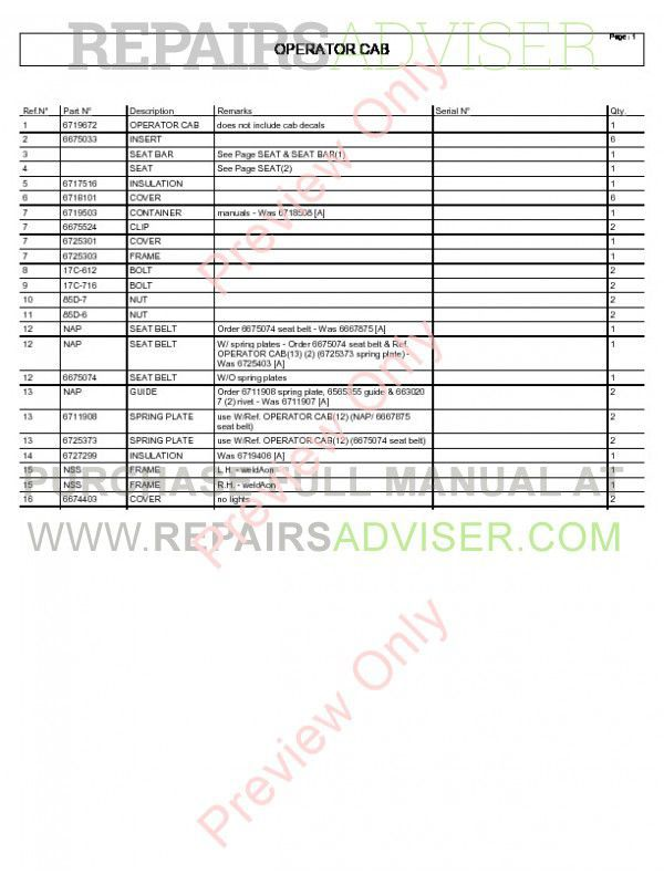 Bobcat T200 Turbo 864 G-Series Parts Manual PDF, Bobcat Manuals by www.repairsadviser.com