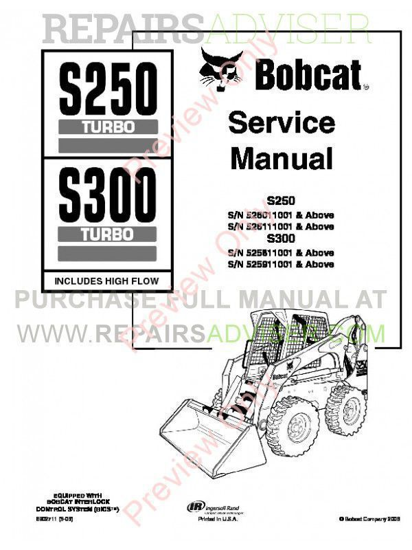 download bobcat s250  s300 turbo hf pdf service manual