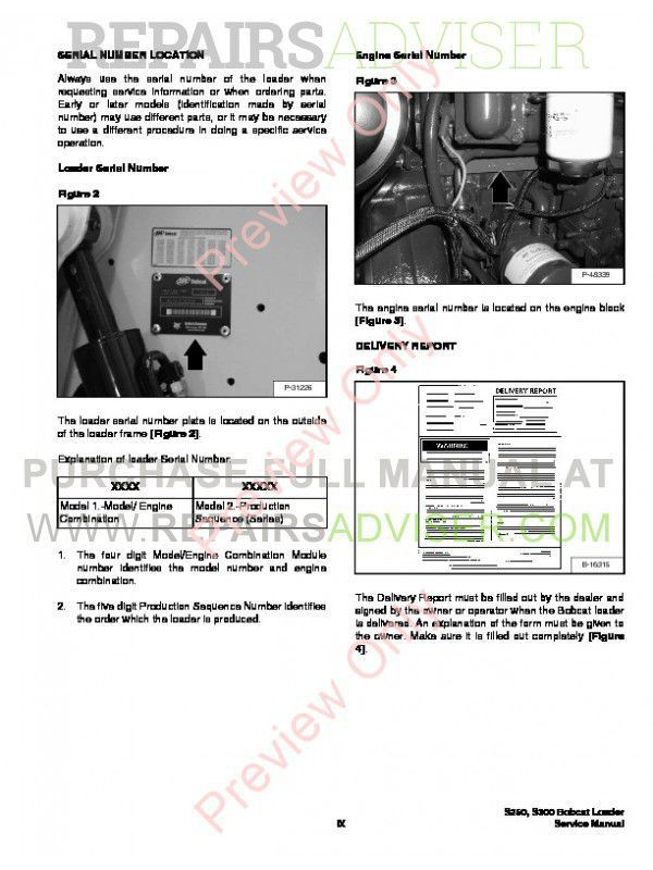 Bobcat S250, S300 Turbo (Includes High Flow) Service Manual PDF, Bobcat Manuals by www.repairsadviser.com