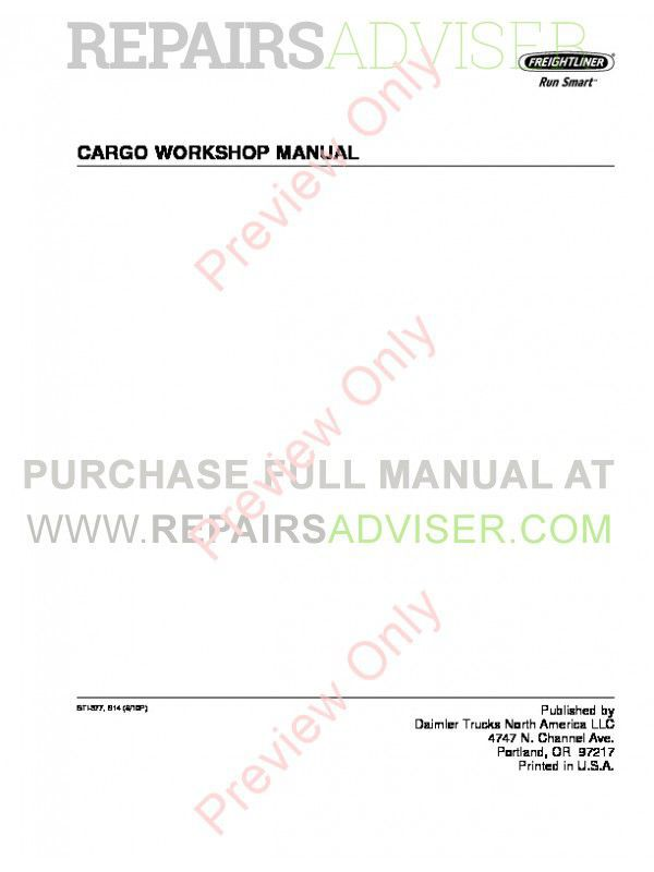 Freightliner Cargo Trucks Workshop Manual PDF