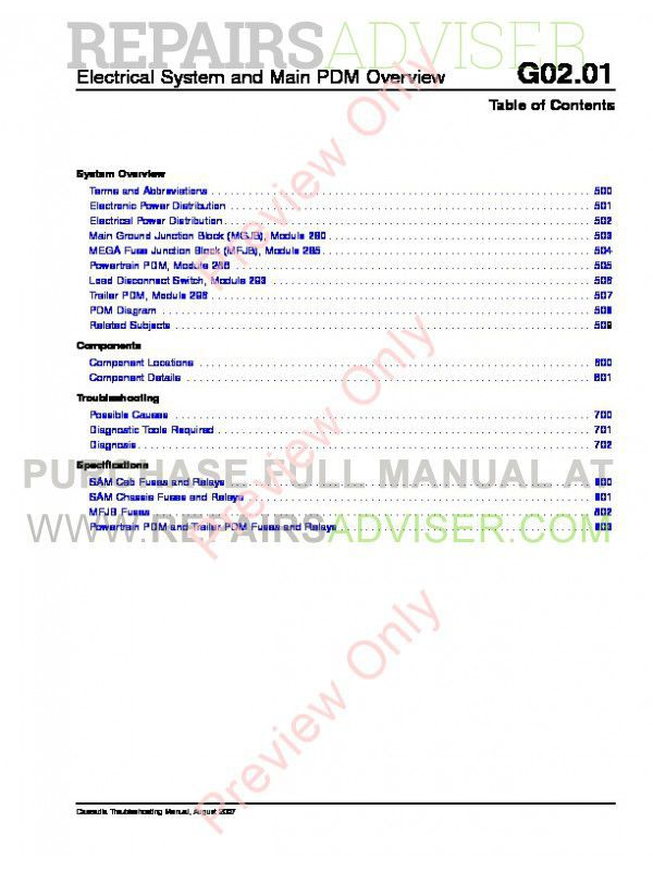 Freightliner Cascadia Trucks Repair Service Manual PDF, Manuals for Trucks by www.repairsadviser.com