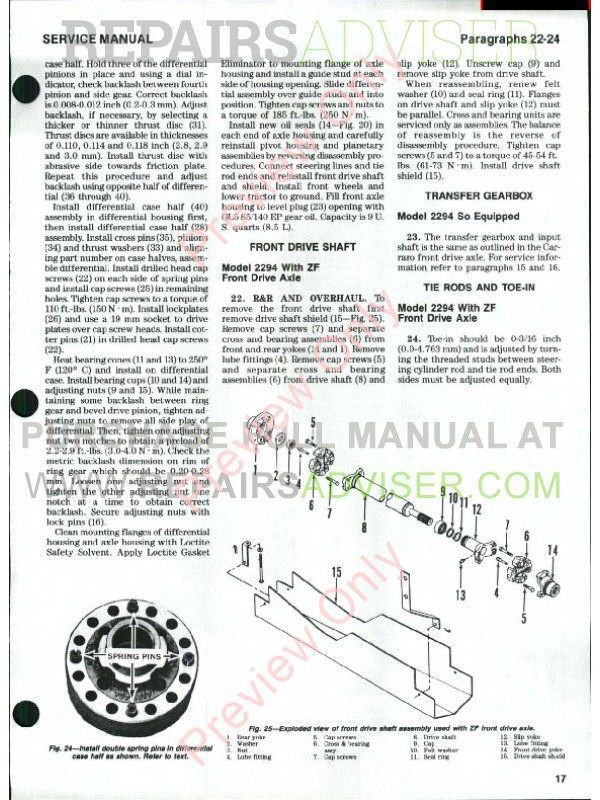 Case IH Tractors 2090/2094 2290/2294 2390/2394 2590/2594 Shop Manual PDF, Case Manuals by www.repairsadviser.com