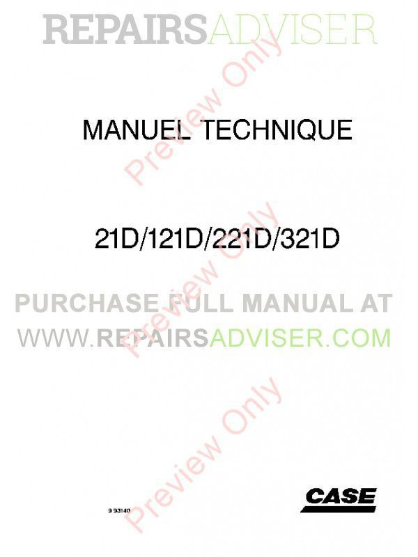 Case 21D 121D 221D 321D Small Wheel Loader Tier II Engine Technical Handbook PDF image #1