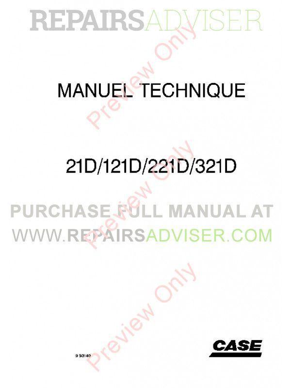 Case 21D 121D 221D 321D Small Wheel Loader Tier II Engine Technical Handbook PDF, Case Manuals by www.repairsadviser.com