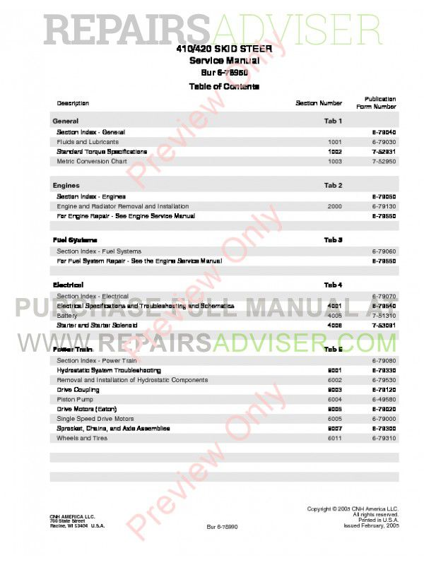 Case 410, 420 Skid Steer Loader Service Manual PDF, Case Manuals by www.repairsadviser.com