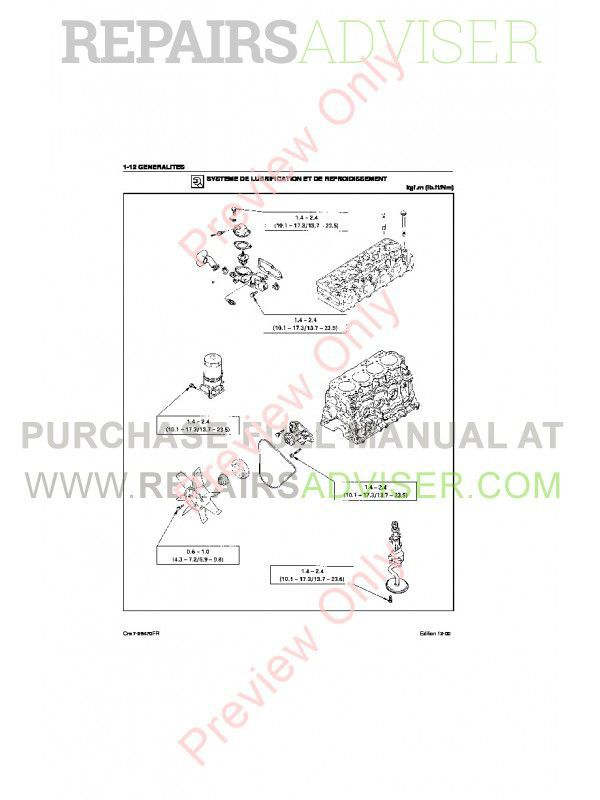 Case Isuzu Engines 4JB1 Service Manual PDF, Case Manuals by www.repairsadviser.com