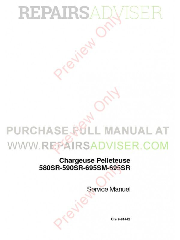 Case 580SR-590SR-695SM-695SR Backhoe Loader Service Manual PDF image #1