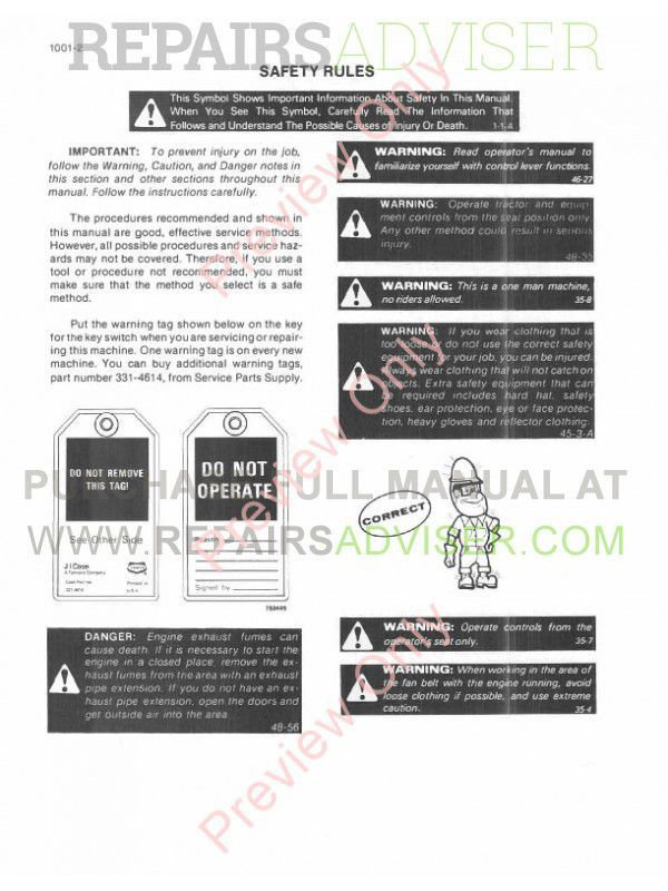 Case 580 Super E Loader Backhoe Service Manual PDF, Case Manuals by www.repairsadviser.com