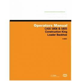 case 580 super e backhoe manual