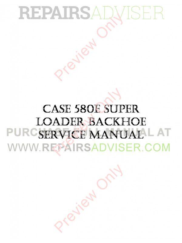 Case 580e Service manual Download