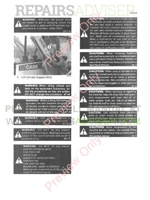 Case 580E Super Loader Backhoe Service Manual PDF, Case Manuals by www.repairsadviser.com