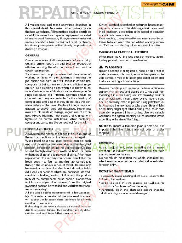 Case 580SR 580SR+ 590SR 695SR Series 3 Loader Backhoe Service Manual PDF, Case Manuals by www.repairsadviser.com