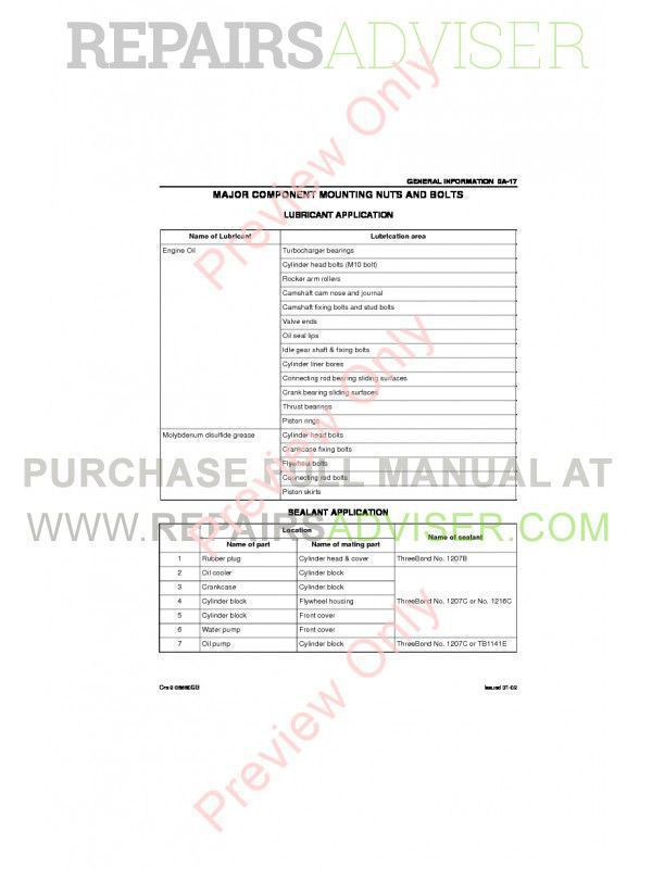 Isuzu 6hl1 engine manual