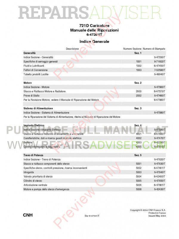 Case 721D Wheel Loader Service Manual PDF, Case Manuals by www.repairsadviser.com