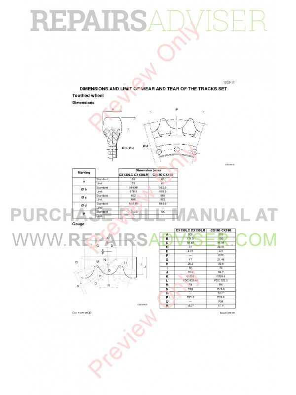 Case CX130 Crawler Excavators Service Manual PDF, Case Manuals by www.repairsadviser.com