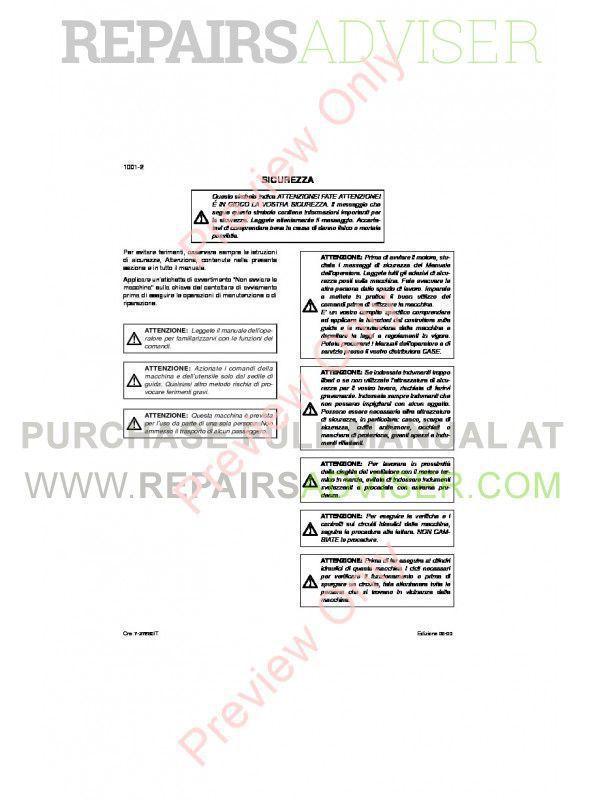 Case CX135SR Crawler Excavator Repair Manual PDF, Case Manuals by www.repairsadviser.com