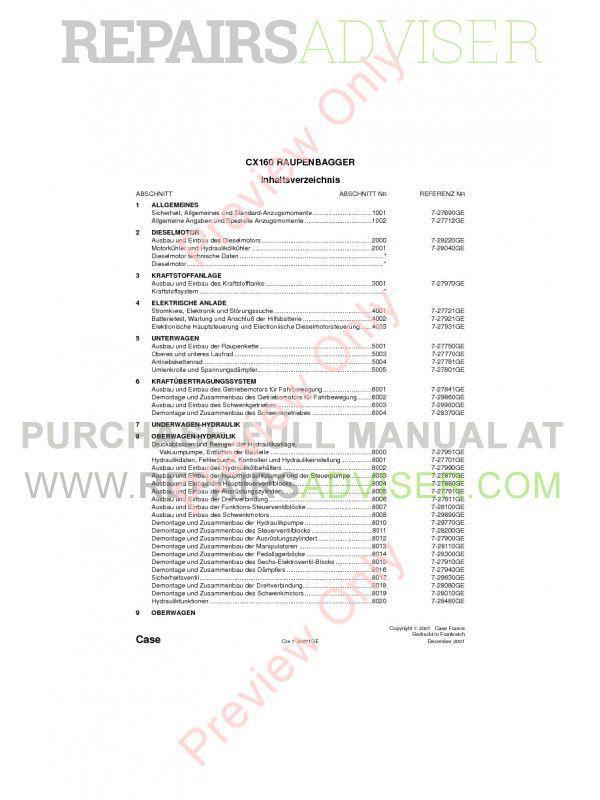 Case CX160 Crawler Excavator Repair Manual PDF image #1