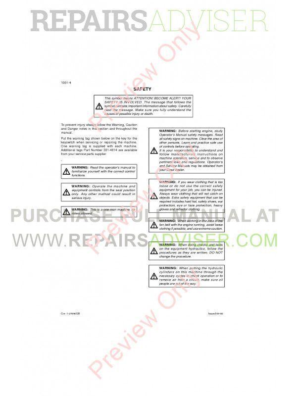 Case CX160 Crawler Excavator Repair Manual PDF, Case Manuals by www.repairsadviser.com