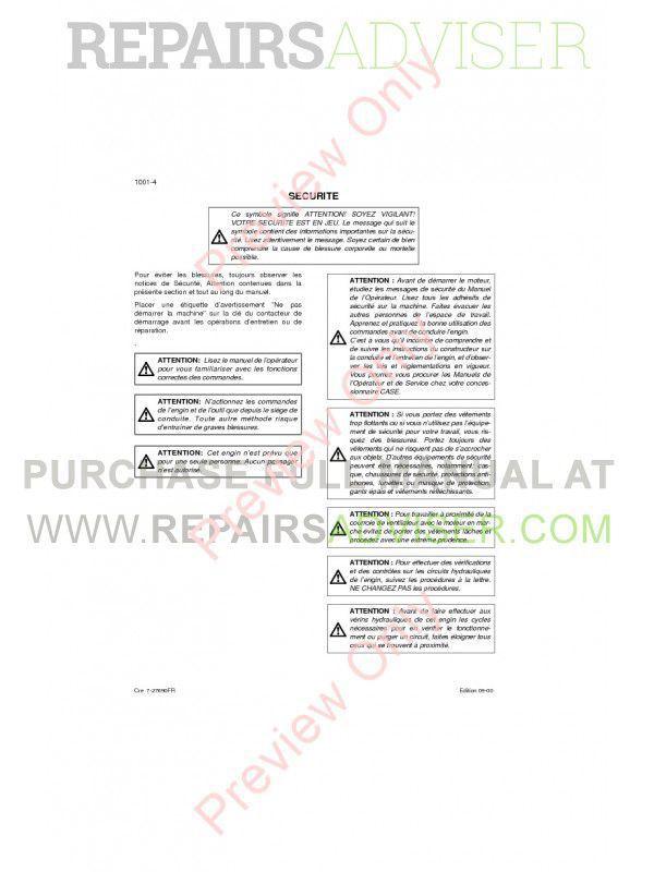 Case cx160 service manual