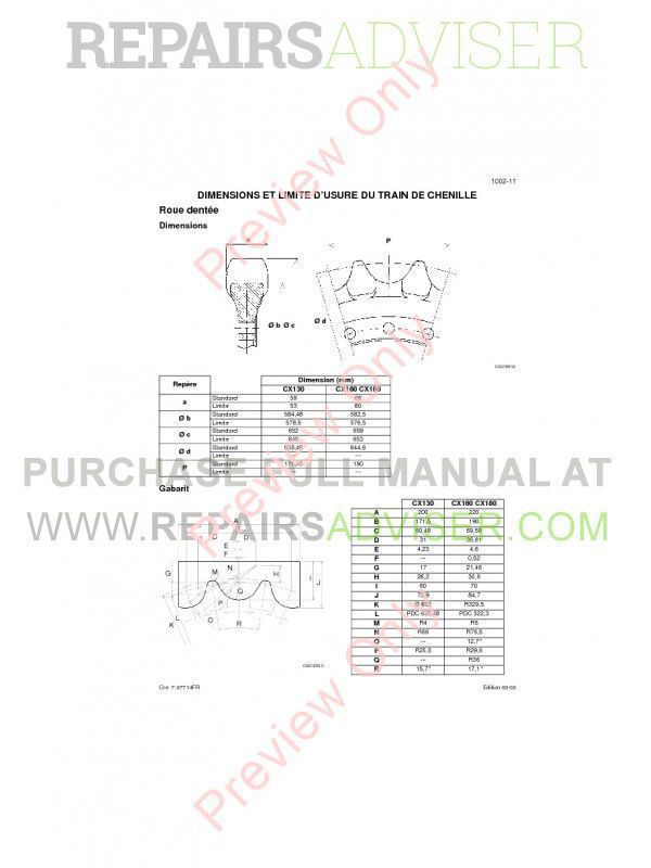 Case CX180 Crawler Excavators Service Manual PDF, Case Manuals by www.repairsadviser.com