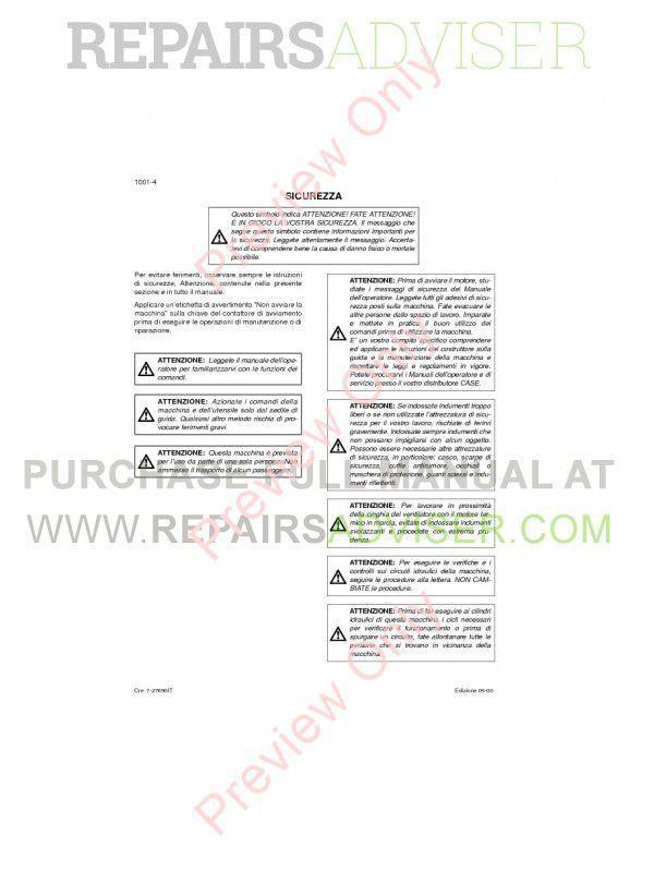 Case CX210 - CX230 - CX240 Crawler Excavators Service Manual PDF, Case Manuals by www.repairsadviser.com