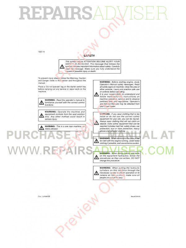 Case CX460 Crawler Excavators Repair Manual PDF, Case Manuals by www.repairsadviser.com