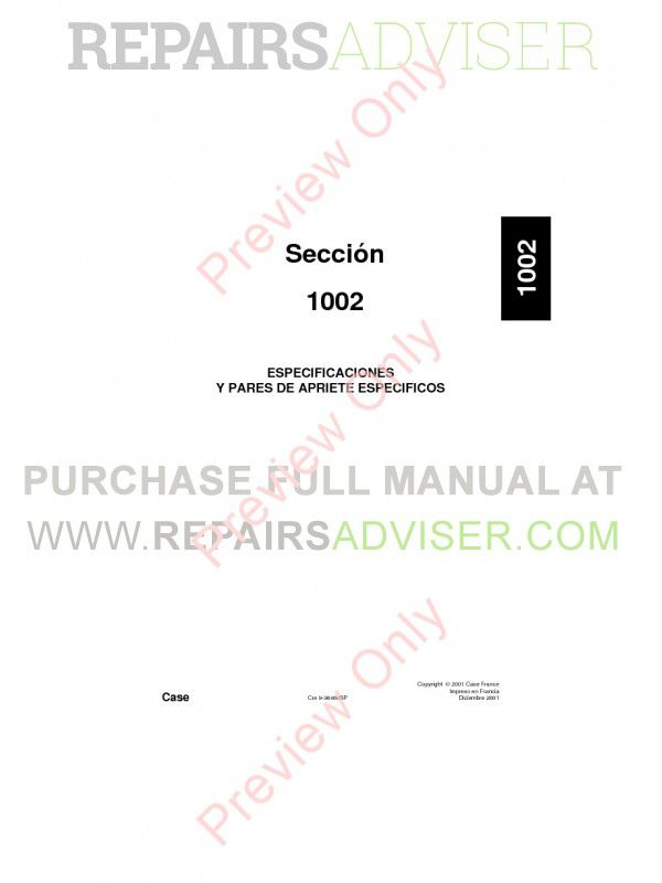 Case CX460 Crawler Excavators Repair Manual PDF, Case Manuals by www.repairsadviser.com