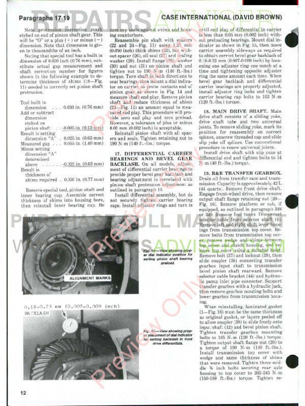 Case International Tractors 1190-1194-1290-1294-1390-1394-1490-1494-1594-1690 Shop Manual PDF, Case Manuals by www.repairsadviser.com