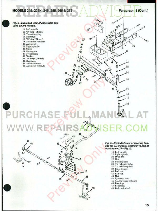 Case International Tractors Models 235, 235H, 245, 255, 265 & 275 Shop Manual PDF, Case Manuals by www.repairsadviser.com