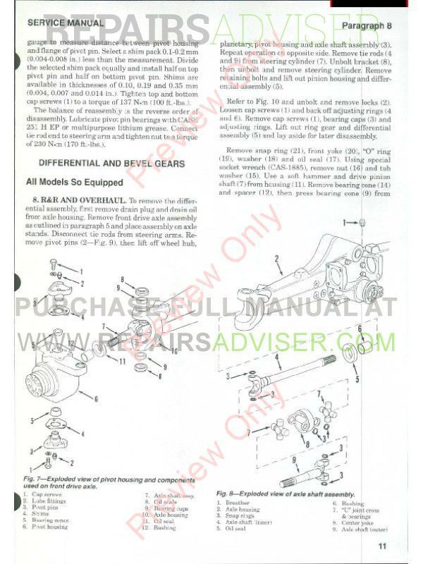 Case International Tractors Models 5120, 5130 & 5140 Shop Manual PDF, Case Manuals by www.repairsadviser.com
