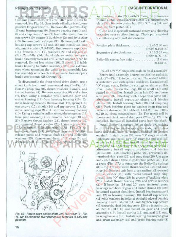 Case International Tractors Models 5120, 5130 & 5140 Shop Manual PDF, Case Manuals by www.repairsadviser.com