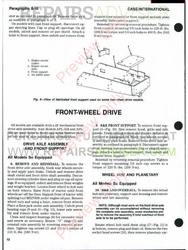 case international tractors 385 485 585 685 885 shop case ih 485 service manual Case IH 485 Tractor