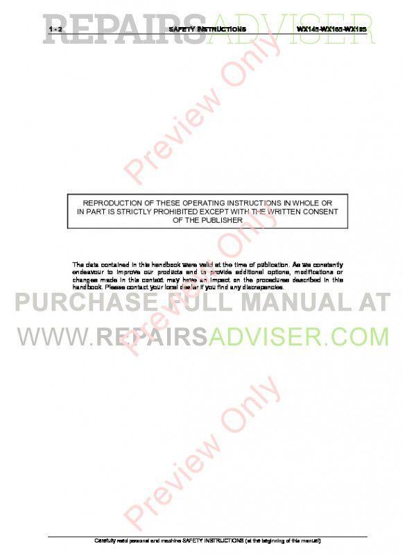 Case WX145, WX165, WX185 Hydraulic Excavators Service Manual PDF, Case Manuals by www.repairsadviser.com