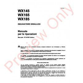 Case WX145, WX165, WX185 Hydraulic Excavators Service Manual PDF