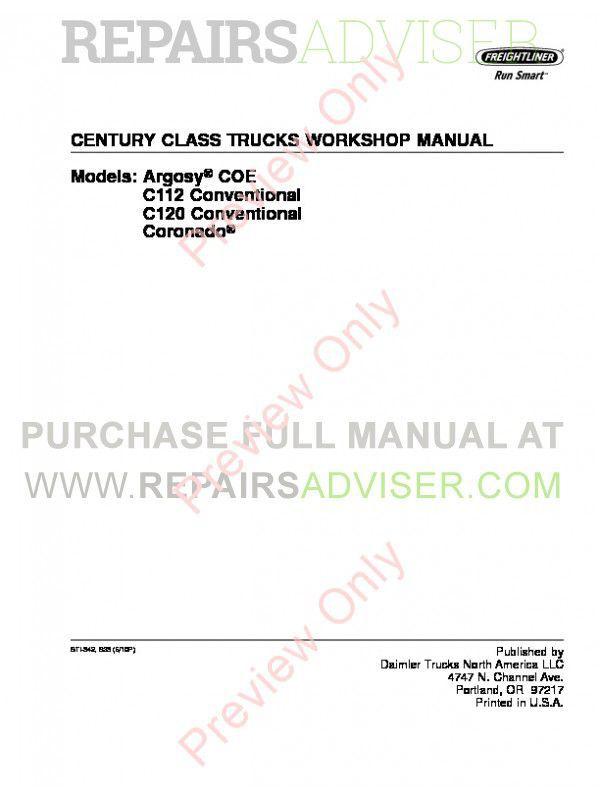 Freightliner Argosy manual Pdf