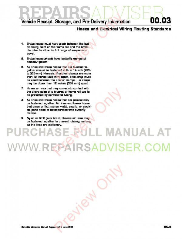 Freightliner Columbia CL112 & CL120 Workshop Manual PDF, Manuals for Trucks by www.repairsadviser.com