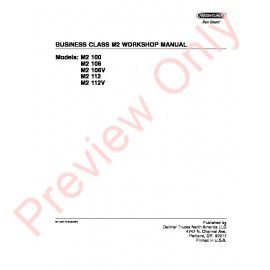 Freightliner Business Class M2 Workshop Manual PDF