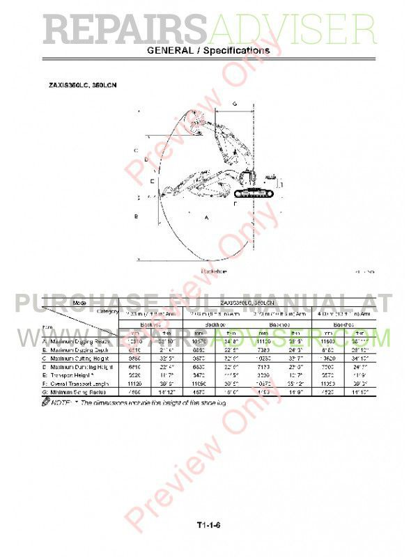 Hitachi Zaxis 330, 330LC, 350H, 350LC, 350LCH, 350LCN, 370MTH Excavators Technical Manual PDF, Hitachi Manuals by www.repairsadviser.com