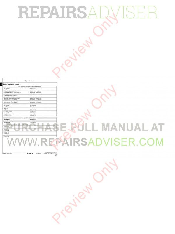 John Deere Level 12 Electronic Fuel System with DE10 Pump Technical Manual CTM331 PDF, John Deere Manuals by www.repairsadviser.com