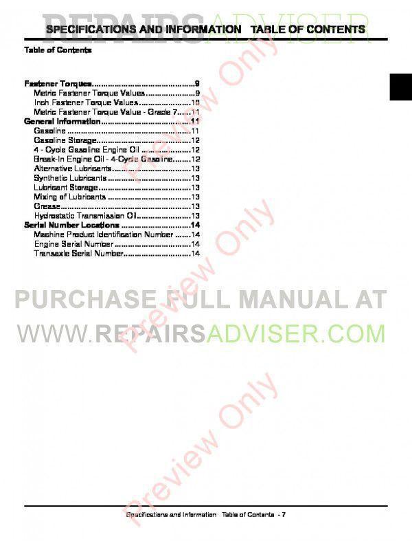 John Deere D100 Manual Download