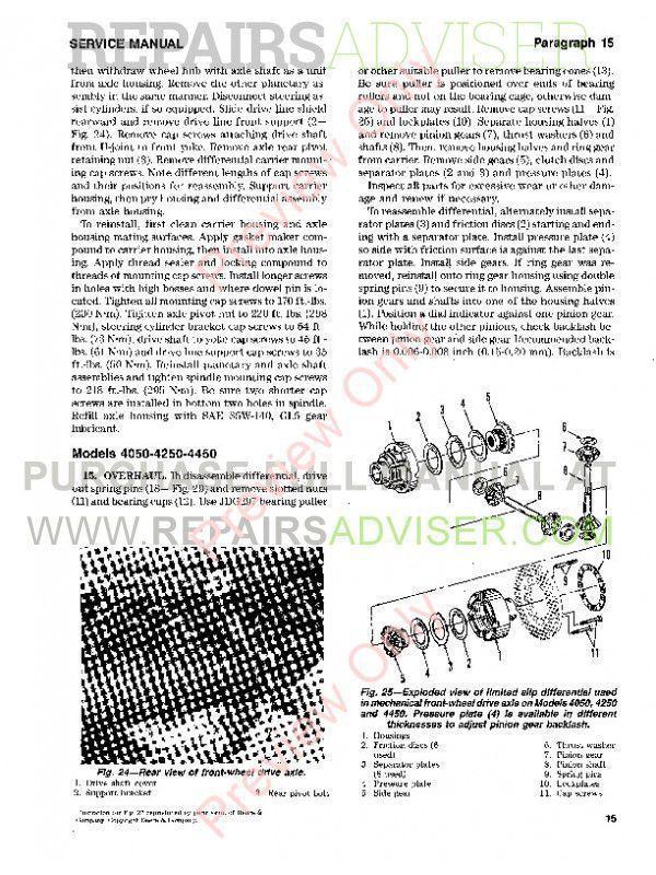 John Deere Series 4050 4250 4450 4650 4850 Tractor Shop Manual Pdf Download