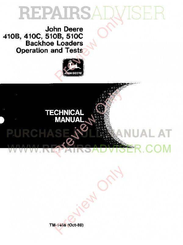 John Deere 410B 410C 510B 510C Technical Manual PDF Download on
