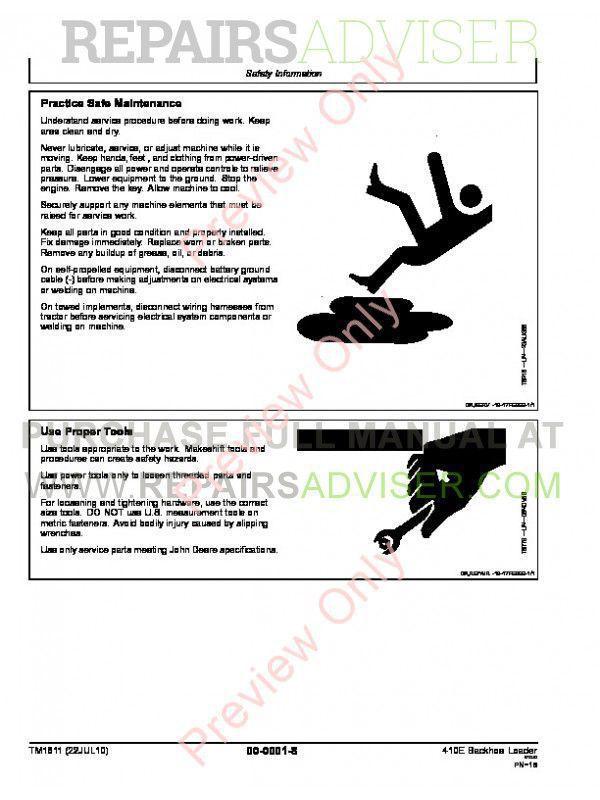 410 John Deere Backhoe Manual