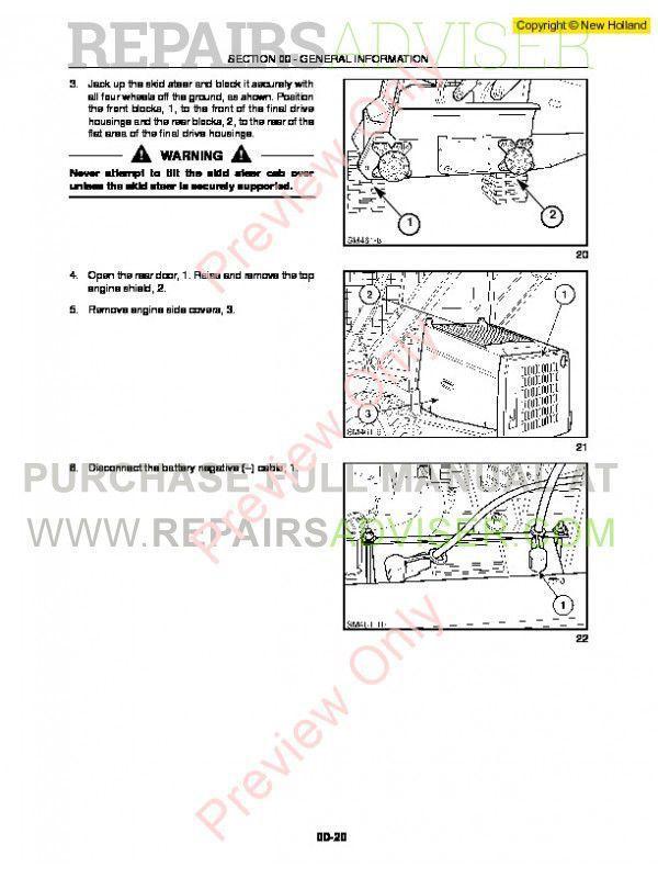 New Holland LS140, LS150 Skid Steer Loader Workshop Manual