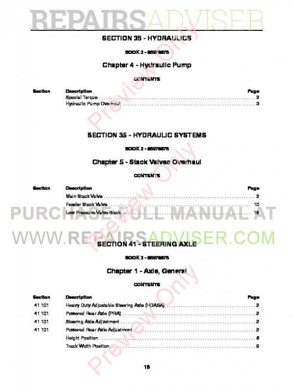 New Holland CX Series Combines Repair Manual PDF, New Holland Manuals by www.repairsadviser.com