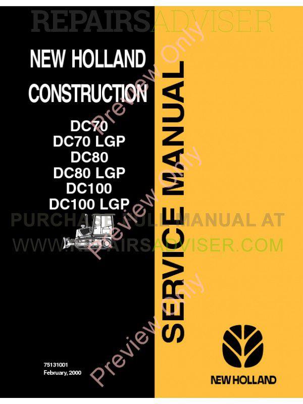 new holland construction dc70 dc70lgp dc80 dc80lgp dc100 dc100lgp service manual pdf download Deutz-Fahr Combines Deutz-Fahr Parts