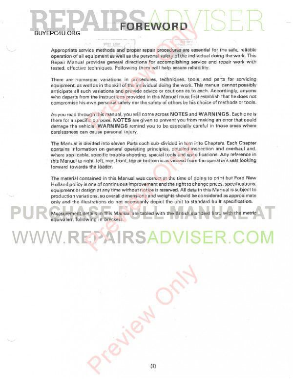 New Holland 455C 555C 655C Tractor Loader Backhoe Repair Manual PDF image #1