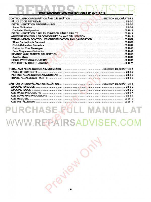 New Holland T8010 T8020 T8030 T8040 PDF Manual Download