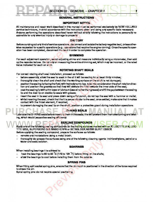 New Holland TN55 TN65 TN70 TN75 Tractors PDF Manual