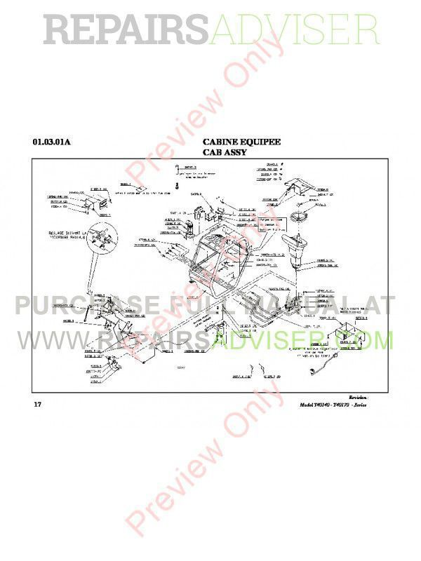 Bobcat T40140 T40170 Telescopic Handlers Parts Manual